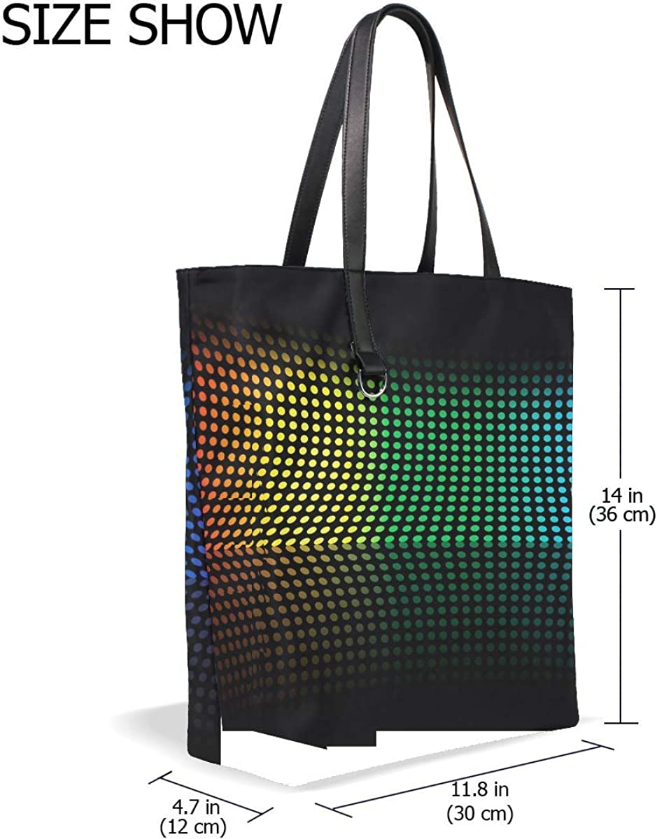 Colorful Shape Point Surface Bending Tote Bag Purse Handbag For Women Girls