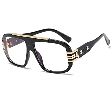 Newest Stylish Brand Square Frame Glasses Optical Male Large Clear ...