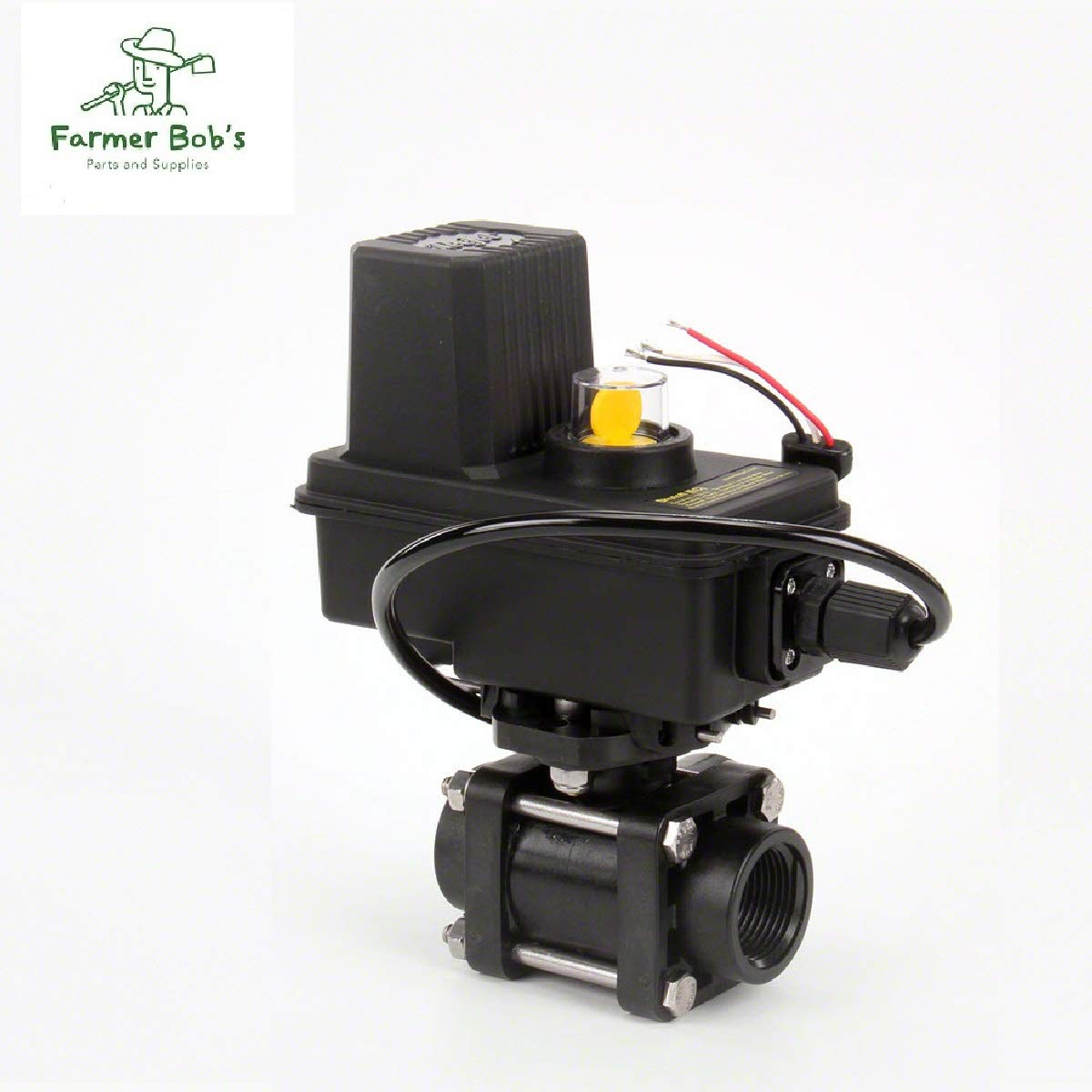TeeJet 344 Series Electronic Shut Off Ball Valve 3-Way 1 Ports w//EC Motor Farmer Bobs Parts 344BEC-34-C