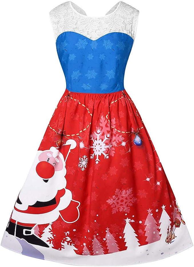 Darringls Falda de Navidad Invierno Mujer, Falda Sin Mangas ...