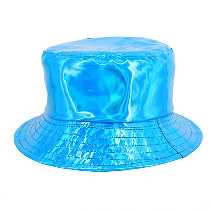 972a39f6d9d Surkat Unisex Fashion Hologram Climbing Bucket Hat Waterproof Fisherman Cap  Travel Sunhat(Blue)