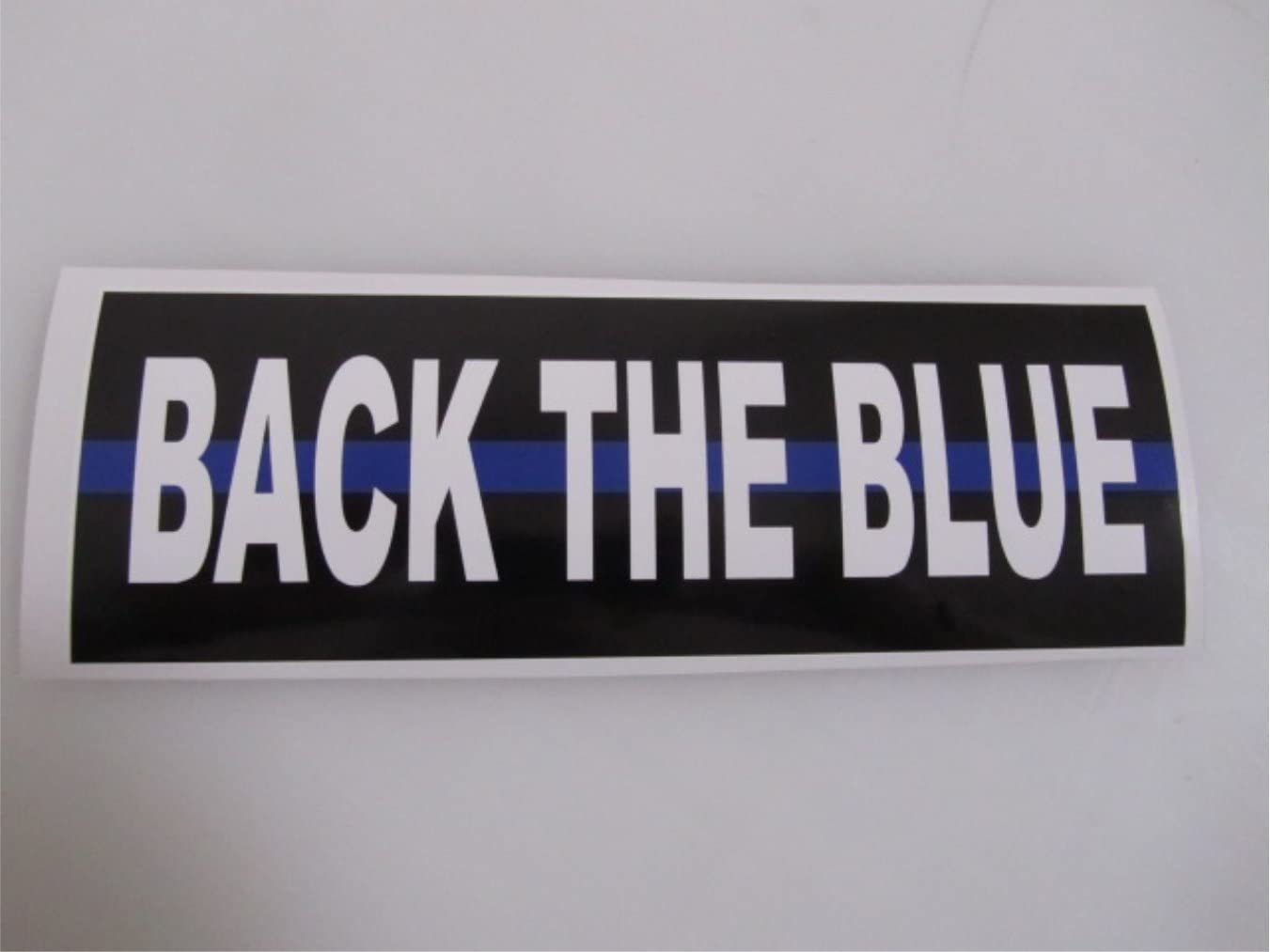 Back the Blue Bumper Sticker Thin Blue Line Support Law Enforcement DECAL