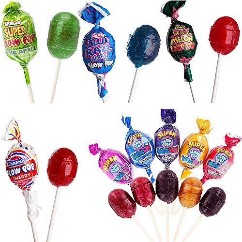 Charms Blow Pops Lollipops, Bulk Suckers, Assorted Candy, 5 Flavors, 240 Count, 9.75 Pounds for $<!--$59.90-->