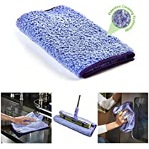 Nano-Knockout ULTRA-MICROFIBER Cleaning TOWEL – JUST ADD WATER No Detergents Needed - Multipurpose Microfiber Cloth - Stick-Attachable for Floor Mop, or Handheld Towel to clean any Surfaces