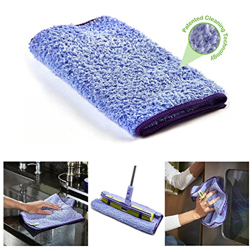 - Pure-Sky Magic Deep Clean Cleaning Cloth - JUST ADD Water No Detergents Needed - Multipurpose Ultra Microfiber Cloth - Stick-Attachable for Mop, or as Handheld Microfiber Towels to Clean Any Surfaces