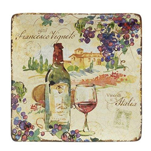 - Certified International Vino Square Platter 12.25