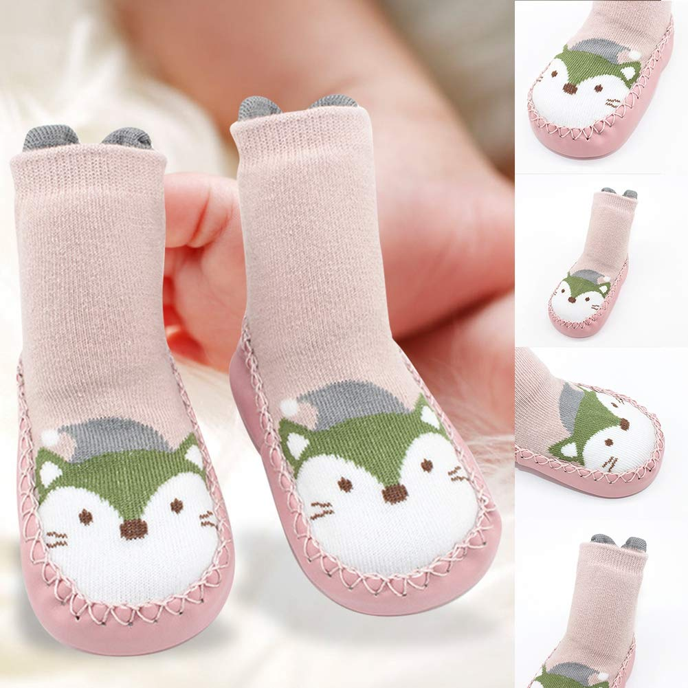 Floor Socks,Baby Cute Cartoon Pattern Floor Socks Soft Rubber Bottom Anti-Slip Floor Long Socks