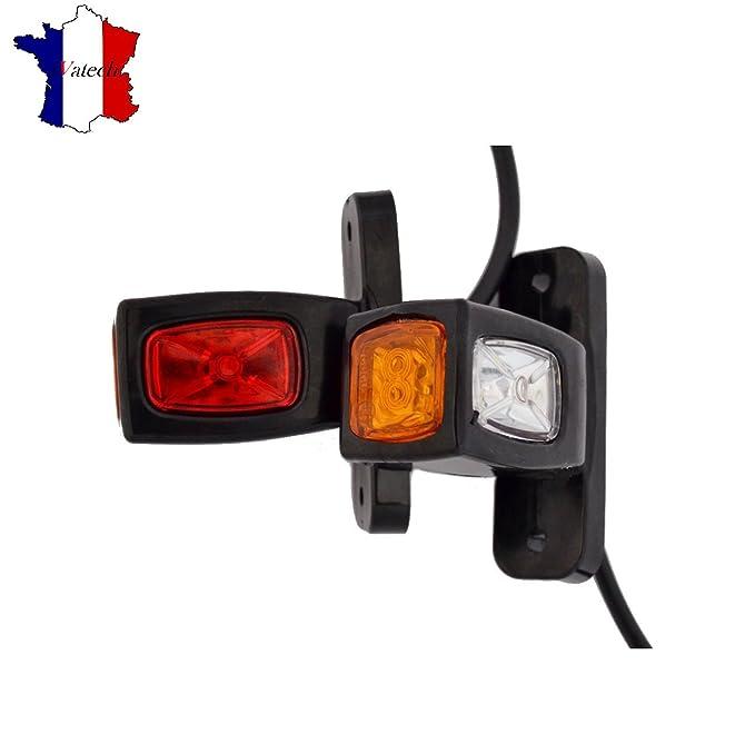 1 opinioni per 2x 12V 24V LED luci di lateraux Countour Rosso Arancione Bianco Camion