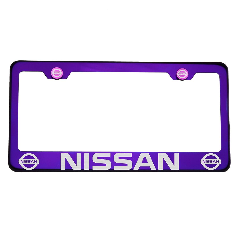 Mopar Plastic License Plate Frame Vinyl Decal Dodge Purple