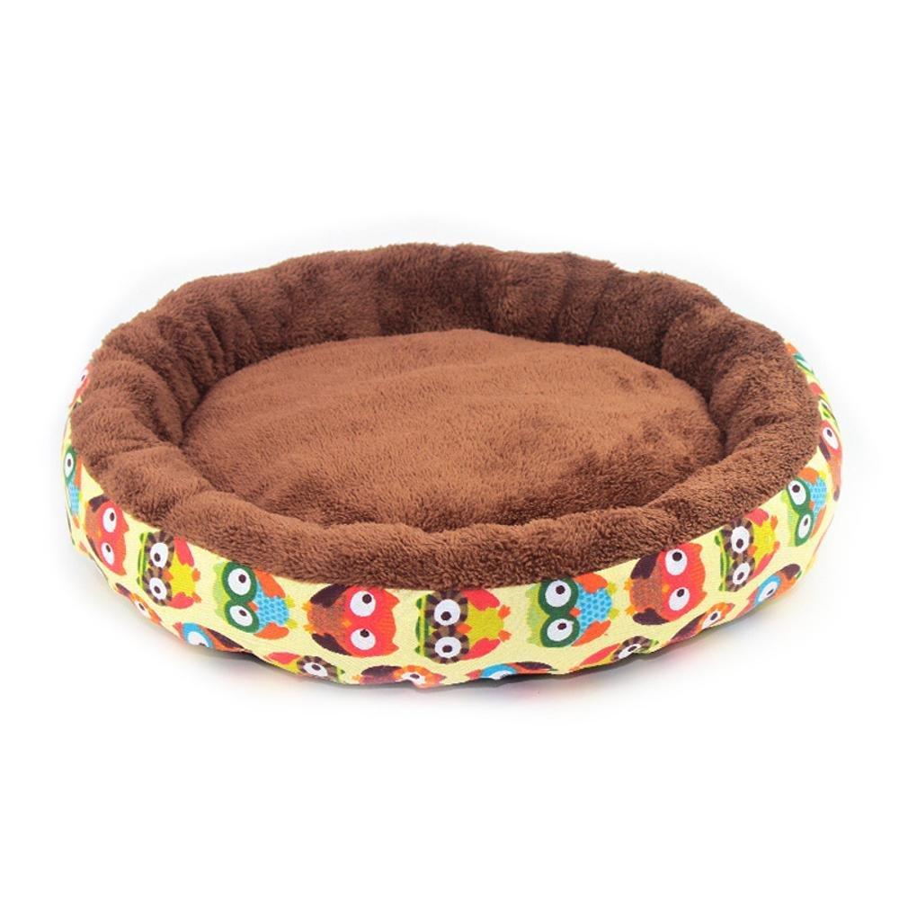 A 4012cmBiuTeFang Pet Bolster Dog Bed Comfort Canvas round breathable kennel warm cat nest