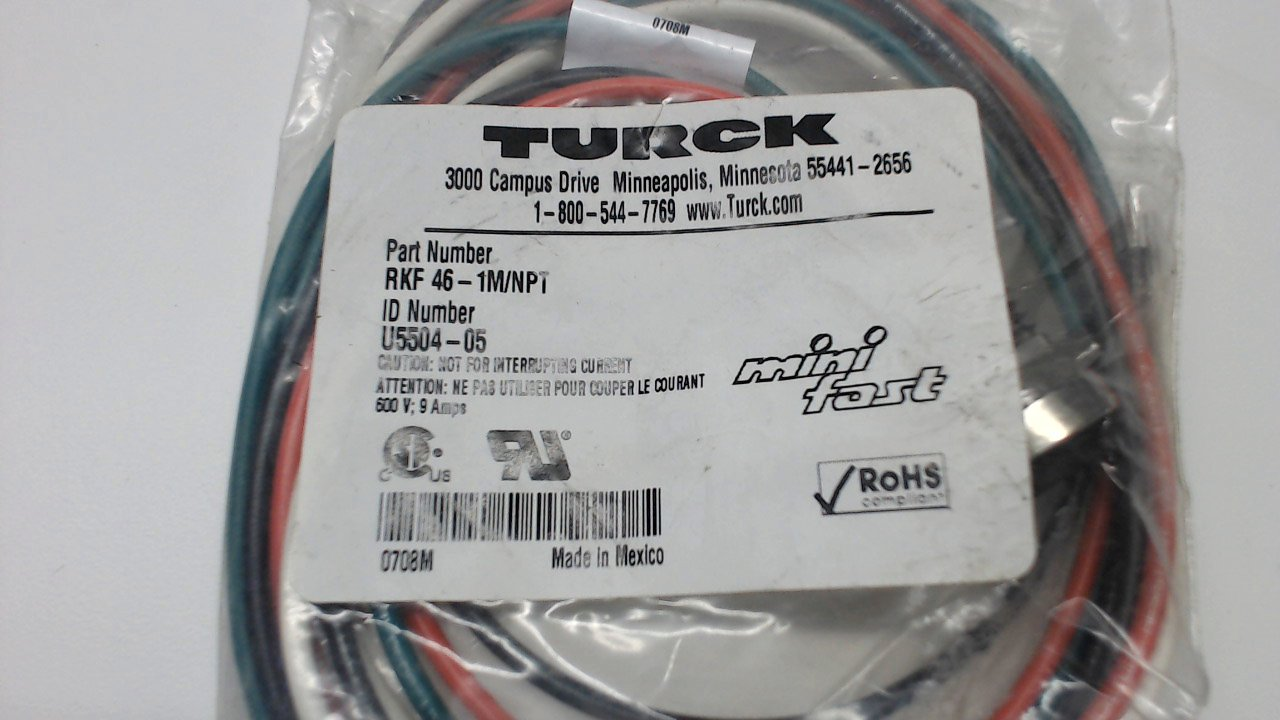 Turck Rkf 46-1M/Npt Rkf 46-1M/Npt: Amazon.com: Industrial & Scientific