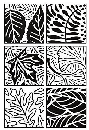 Artist's Paintstiks Rubbing Plates 6/Pkg.-Leaves