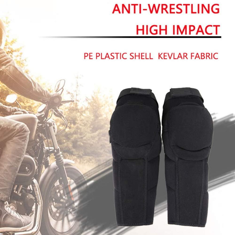 TY BEI Kneepad Kneepad - Motorcycle Knee Pads Protector Sports Scooter Motor-Racing Guards Gears Scooter Protective Kneepad L/XL @@ (Color : Black, Size : L) by TY BEI (Image #6)