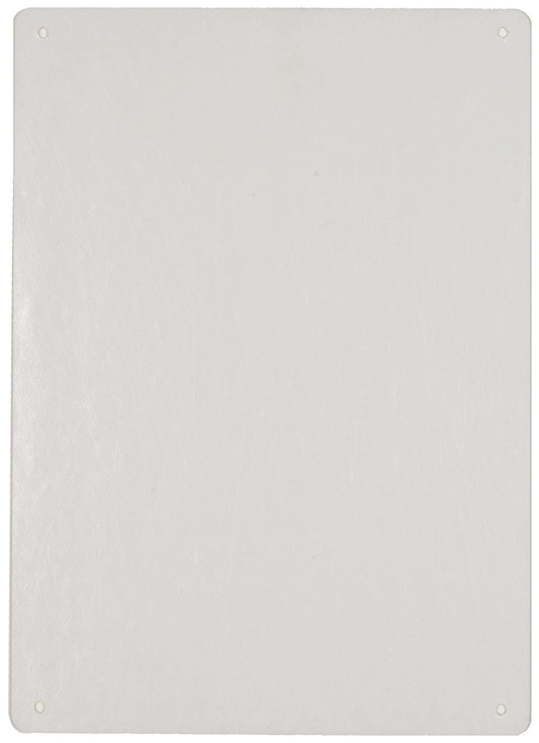 14 Width Brady 25377 10 Height White Color Blank Sign B-401 Plastic