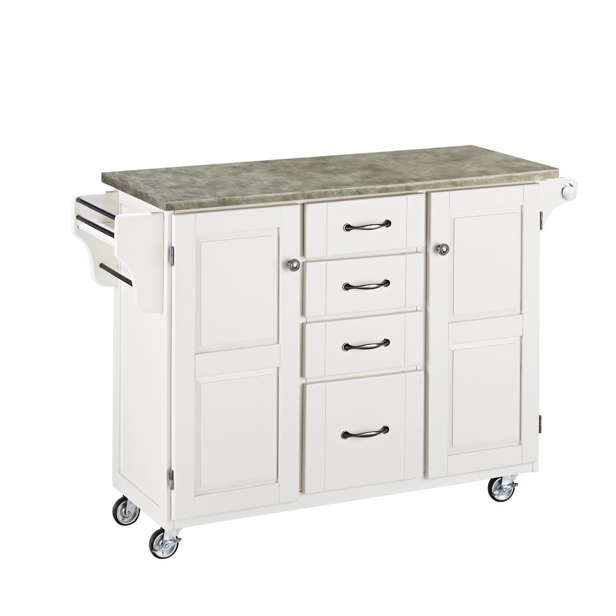 Nexera 2 Door Mobile Microwave Cart: Home Styles 9100-1211 Create-a-cart White 2 Door Cabinet