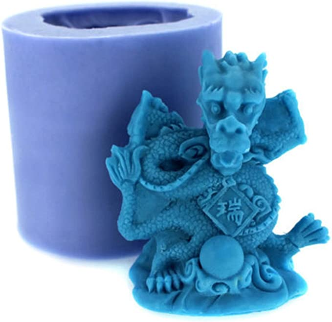 DRAGON EGG HORIZONTAL Silicone Mould Mold Soap Candle Resin Dragons Realistic