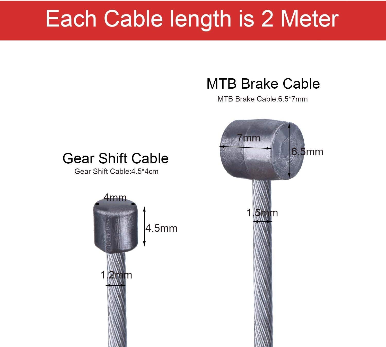 Brake wire cable head Keg Bike Bicycle BMX MTB City Bike 185 cm.