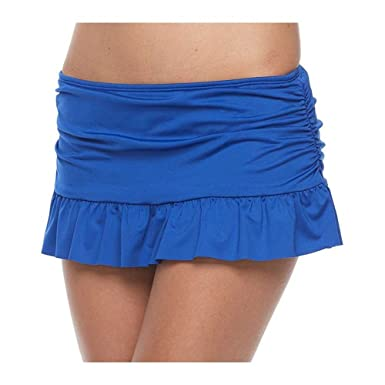 Amazon Com Apt Ruffled Skirtini Bottoms Royal Blue Clothing