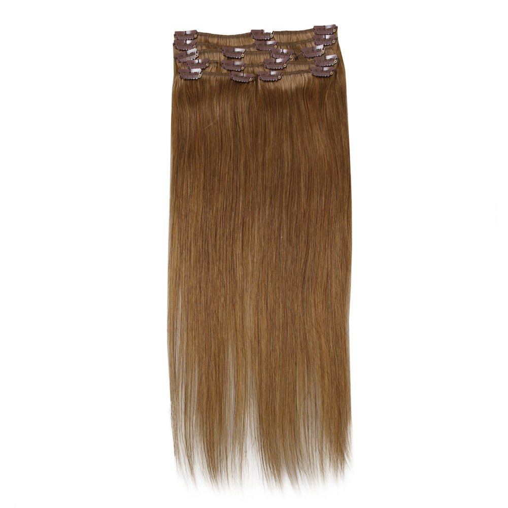 Sunmay 100 Real Human 24 Inch Hair Full Head Clip In Remy Hair