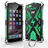 Iphone 6 6s plus Case, bpowe Hollow Design Full Signal Thor Case, Aviation Aluminum Anti-scratch Strong Protection Metal Hard Rugged Case for Iphone 6/6s plus 5.5inch (black/green)