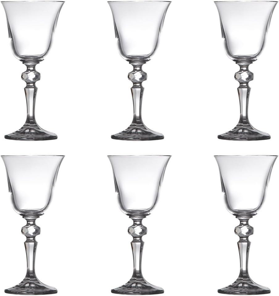 Conjunto de taças de cristal para vinho branco