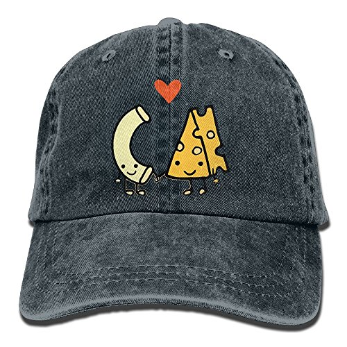 Macaroni and Cheese Love Trend Printing Cowboy Hat Fashion Baseball Cap for Men and Women Navy