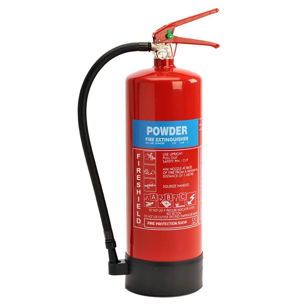 Powder Fire Extinguisher - 6KG ABC Dry Powder Extinguisher FireShield PRO