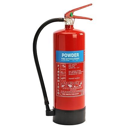 d61b4f4cfcab Powder Fire Extinguisher - 6KG ABC Dry Powder Extinguisher FireShield PRO   Amazon.co.uk  DIY   Tools