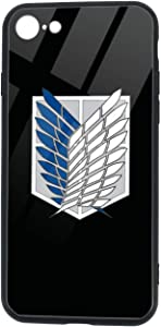 Shock Resistant Case Compatible with iPhone Se 2020/iPhone 7/8,Attack on Titan Logo Designed for iPhone Se 2020/iPhone 7/8 Case 360 Full Body Protective Cover