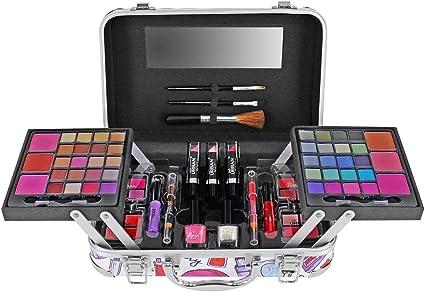 Maletín de maquillaje de 79 piezas: Amazon.es: Belleza