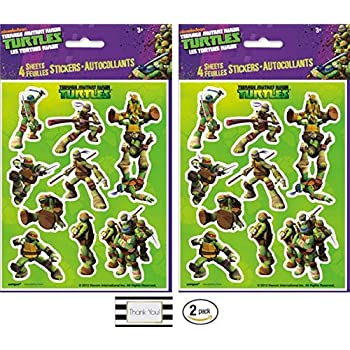 Amazon.com: Teenage Mutant Ninja Turtle 4 hojas de pegatinas ...
