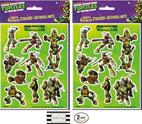 Teenage Mutant Ninja Turtle 4 Sheets of Stickers (2 Pack)