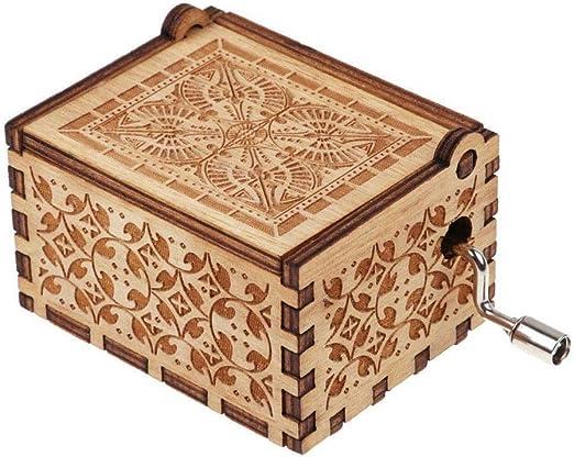 Abilieauty, 1 Caja de música de Madera, diseño Vintage, Tallada a Mano, para niños y Novias: Amazon.es: Hogar