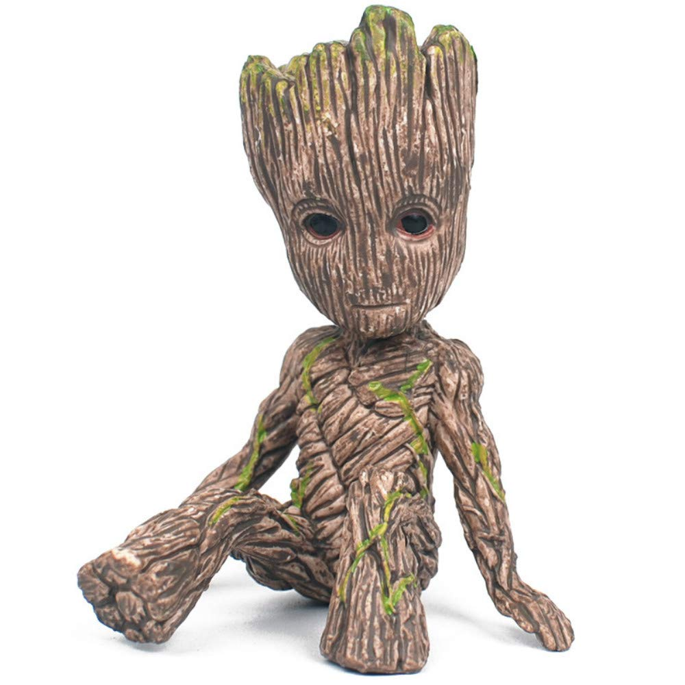 Meishaonv PVC Statue Groot in Guardians of The Galaxy for Kids Home Decor