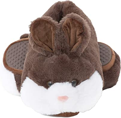 Hot Womens Winter Plush Bunny Rabbit Warm Slippers Slip On Home Flats Shoes US