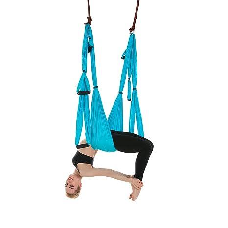 Himifuture Yoga Hamaca Columpio Trapecio Set Anti Gravedad Ultra Fuerte Cómodo Ejercicios Pilato Fitness Flexibilidad Núcleo Fuerza Pérdida de peso, ...