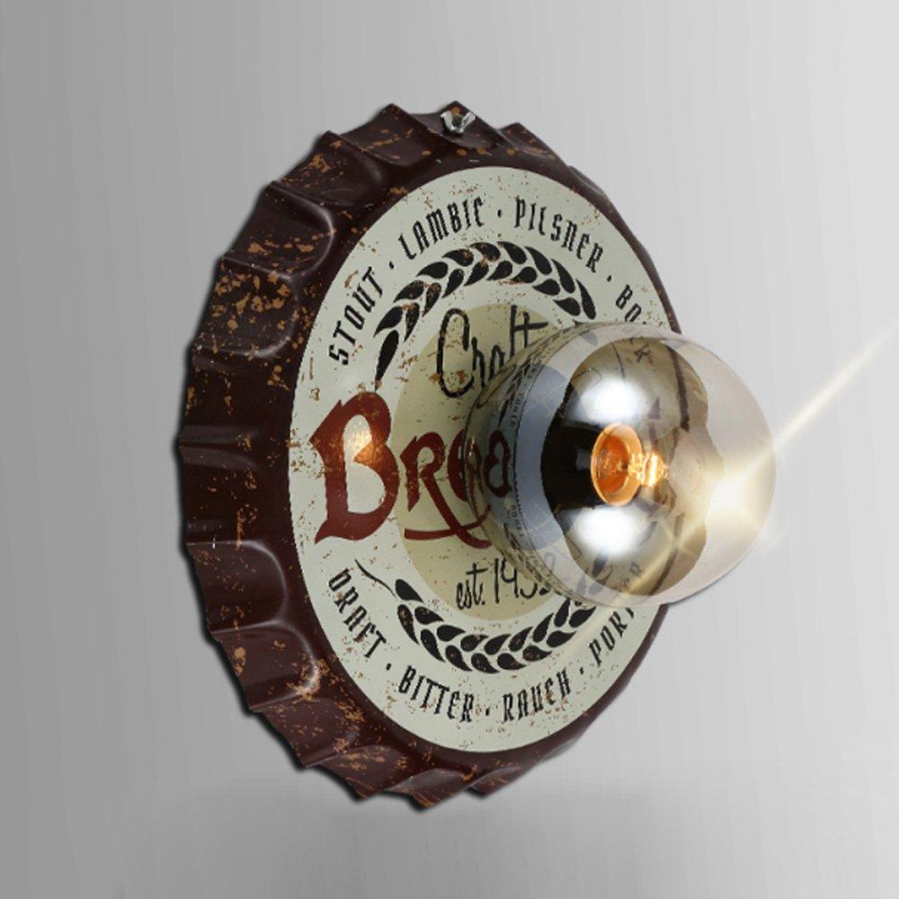 Loft American Nordic Vintage Bier Flaschenverschluss Glas Wandleuchte Magic Bohnen Wandlampe Cafe KTV Bar Gang Korridor Schlafzimmer Wandleuchte E27