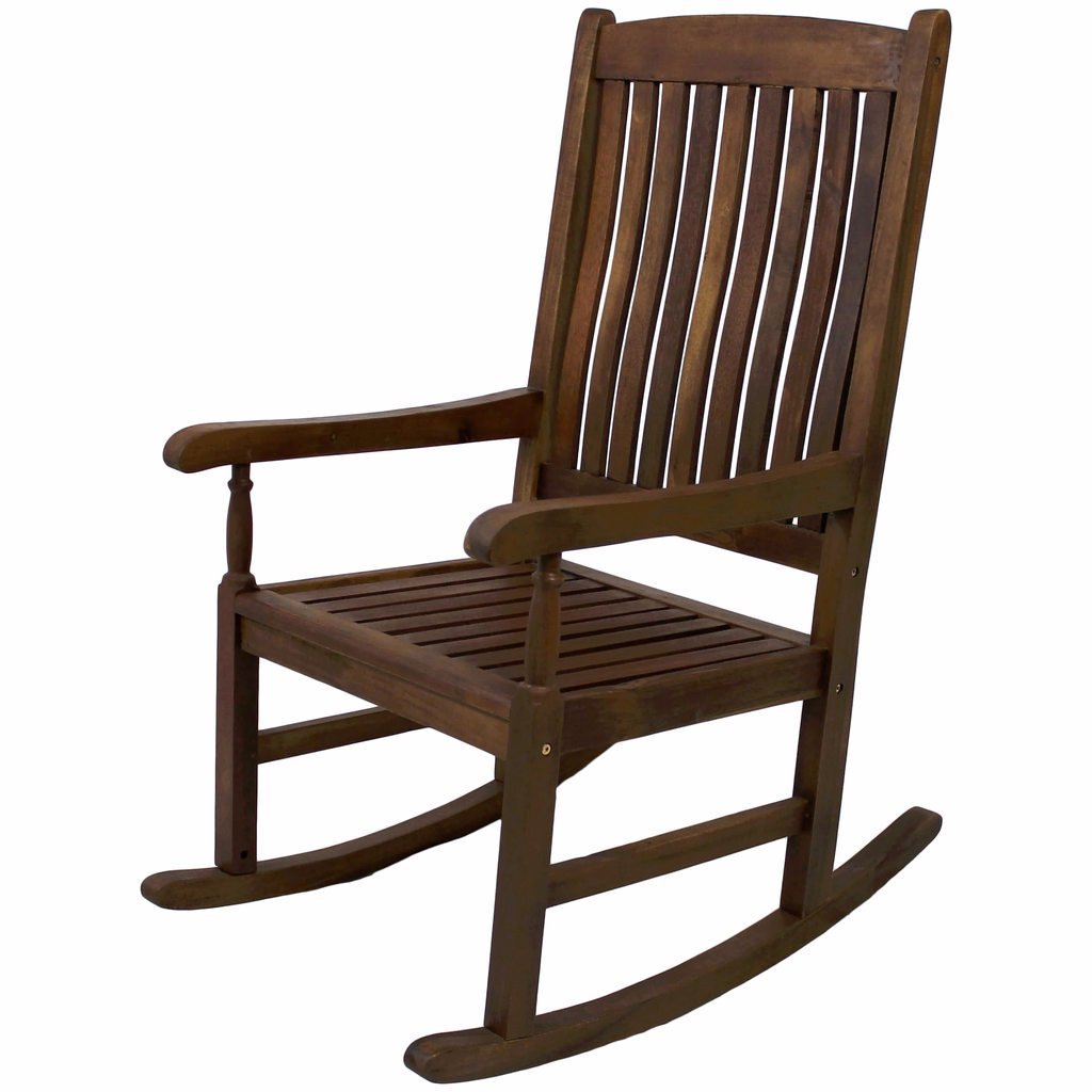 Brown Wood Rocking Chair with High Back and Traditional style Includes Custom Mouse Pad UNKNO