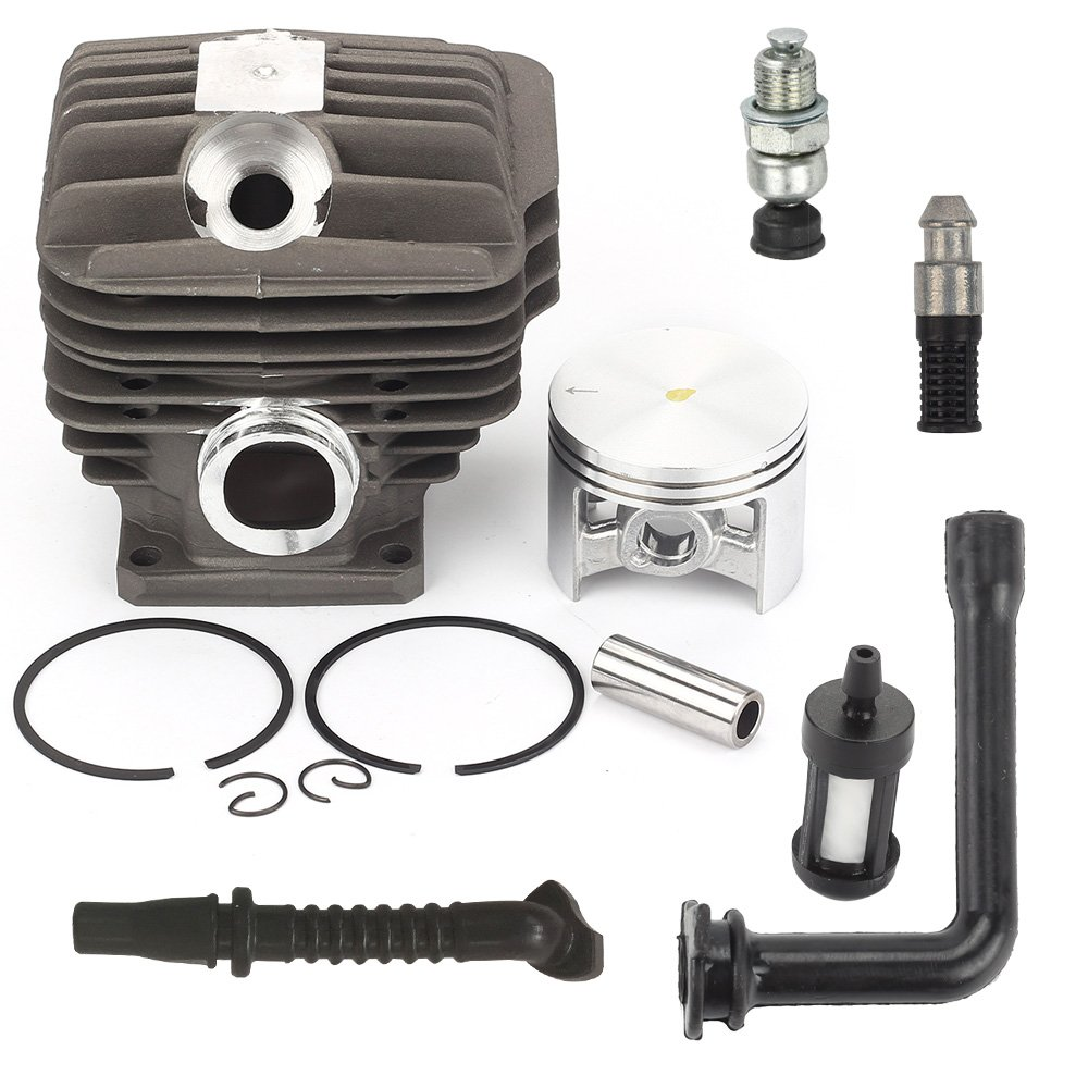 Harbot 52mm MS460 Cylinder Piston Kit with Decompression Valve Fuel Oil Line Filter for STIHL 046 MS 460 Chainsaw