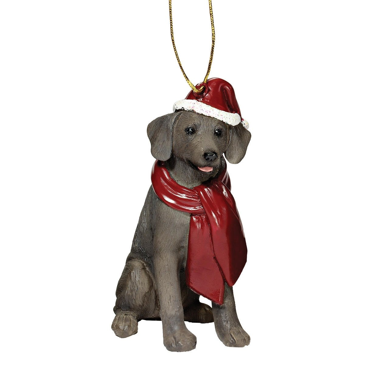 Design Toscano Christmas Ornaments - Xmas Weimaraner Holiday Dog Ornaments by Design Toscano (Image #1)
