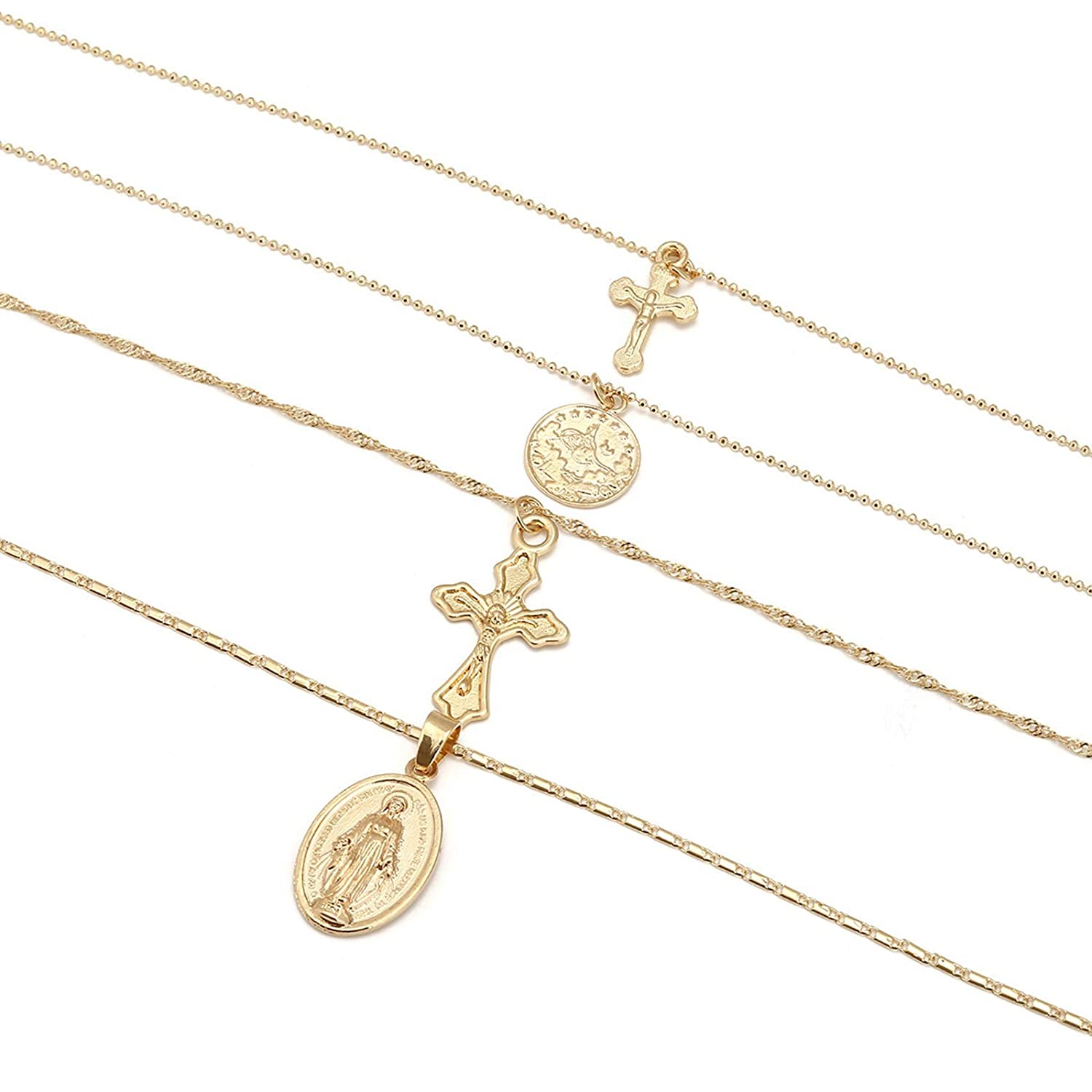 AMDXD Jewelry Chain Necklace Jewelry Virgin Cross Chain Necklaces Vintage Necklace Women