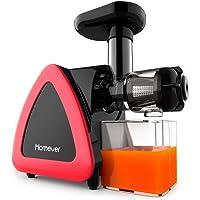 Homever Entsafter, 200 W, Slow Juicer mit Reverse-Funktion mit langsamem Entsafter, professionell, für Obst und Gemüse, Kaltextraktion, inkl. Saftkrug und Pinsel