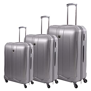 e4a0452299542 Trolley Travel Bags by Sonada set of 3 bags 97399 - Silver  Amazon ...