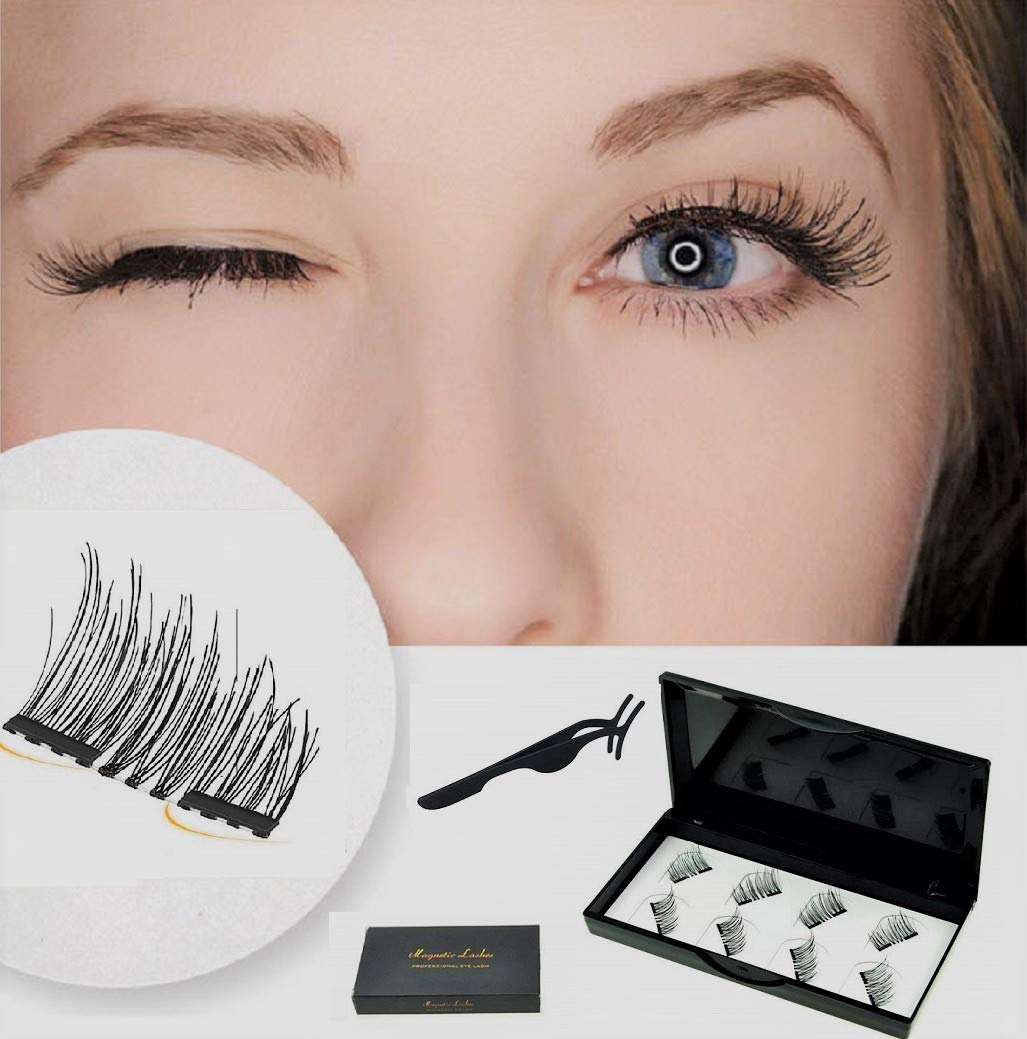 304629707e6 Premium Dual Magnetic Eyelashes Extension Set, Coco Makeup 0.2mm Ultra Thin  Magnet, Light