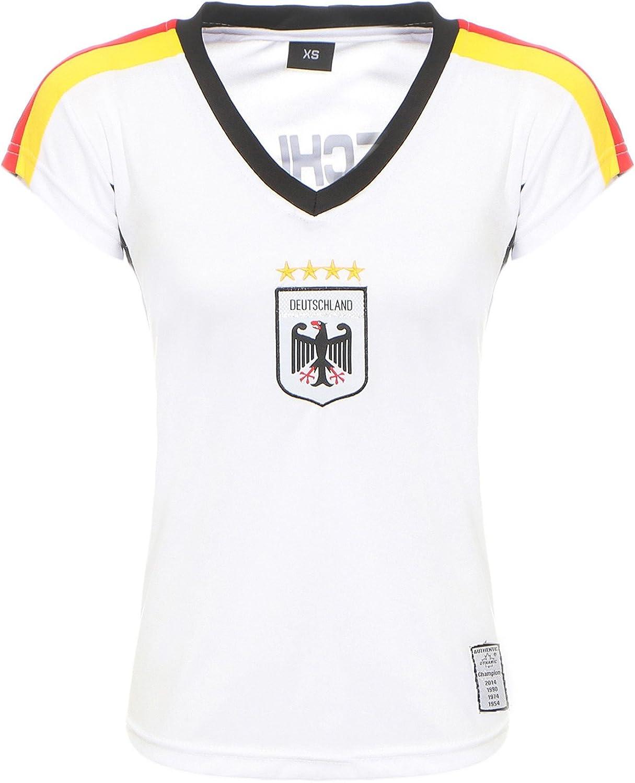 Camiseta de fútbol de la selección nacional de Antonio by Cleostyle, color blanco, CL 52-1, Mujer, Blanco, extra-small: Amazon.es: Ropa y accesorios