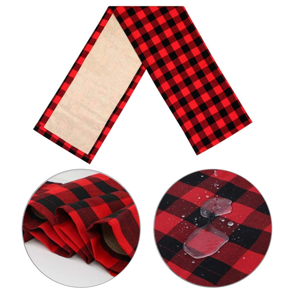 Red Buffalo Plaid Table Runner