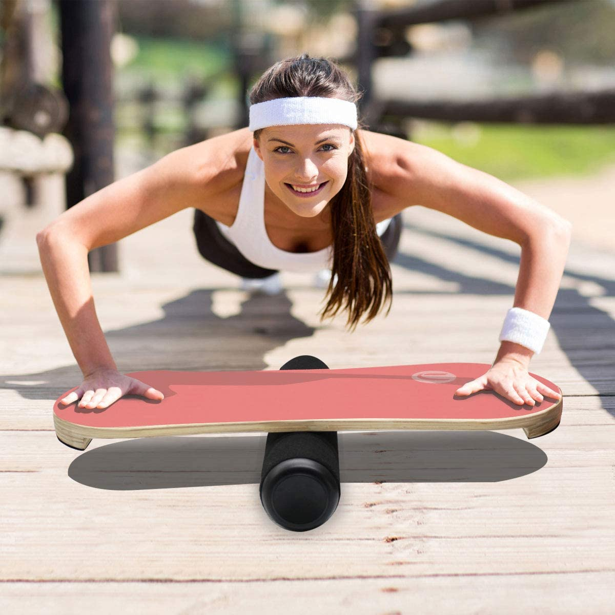Balance Board Trainer Set Unique Gift for Athletes Wobble Roller /& Workout Guide for Balancing Fitness Sports Kids and Adults