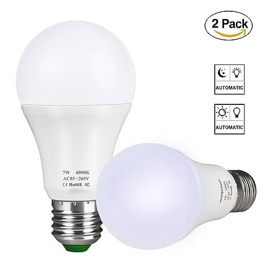 E14 Candle LED Light Bulbs Dusk to Dawn Light Sensor Security LED Bulb On//Off,