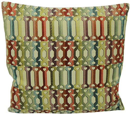 Newport Layton Home Fashions Oh Boy Knife Edge Pillow with Zipper Closure and Feather Insert, 20-Inch, Multicolor (Newport Pillow Covers)