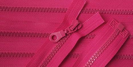 Rei/ßverschlu/ß Kunststoff teilbar f/ür Jacken 45 cm rosa